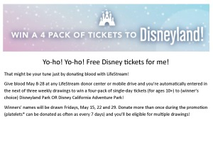 Disney Tickets Drawing 20152